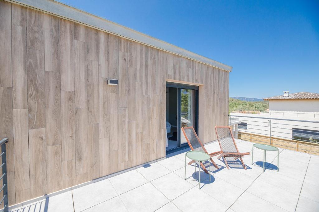 Terrasse de la chambre - Villa Alpana 2 en Corse